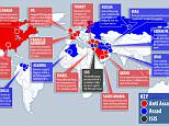 This map, created by MailOnline, shows who supports who in the battle for Syria - with the UK, France, Germany and the US belonging on the 'Anti Assad' side
