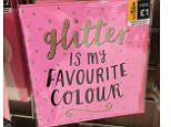 This greetings card sparked an online tussle as some claimed the card stated 'Hitler' rather than  'Glitter is my favourite colour'