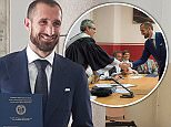 Giorgio Chiellini graduated from theUniversity of Turin on Thursday afternoon