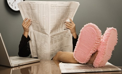 Time to put your feet up: Liz Jones thinks too many young women today have it easy