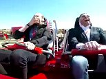 As the ride starts out both men are clearly loving the Red Force's insane acceleration