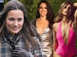 Don't ban wedding hotties, Pippa - it's how YOU got famous! RACHEL JOHNSON gives some shapely advice to Britain's most famous almost-royal after she tells Vogue Williams and Meghan Markle to butt out By Rachel Johnson for The Mail on Sunday PUBLISHED: 19:02 EDT, 8 April 2017 | UPDATED: 19:54 EDT, 8 April 2017     e-mail   2 View comments Rising star: Vogue Williams - aided by Virginia Macari Beachwear Couture - made it to page three of The Sun +3 Rising star: Vogue Williams - aided by Virginia Macari Beachwear Couture - made it to page three of The Sun  When Pippa Middleton marries next month, she must be hoping that all eyes will again be on the most famous almost-Royal rear in history as it wiggles down the aisle.  Yea, she must be hoping to repeat her headline-grabbing performance as Maid of Honour at the Royal Wedding on April 29, 2011, that special day that will go down in our island story as the moment when the ?eligible bachelorette? (US networks) or ?Chelsea Party girl? (Tatler