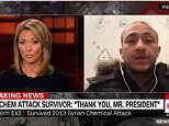 Brooke Baldwin (L), a host of the news channel , attempted to make a point about acceptance of refugees while talking to Kassam Eid, who survived a 2013 chemical attack on Syria