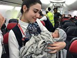 Nafi Diaby suddenly went into labour while flying from Conakry, Guinea, to Ouagadougou in Burkina Faso