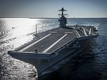 The USS Gerald R. Ford embarked on the first of its sea trials to test various state-of-the-art systems on its own power on Saturday