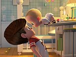"""This image released by DreamWorks Animation shows characters Tim, voiced by Miles Bakshi, left, and Boss Baby, voiced by Alec Baldwin in a scene from the animated film, """"The Boss Baby."""" (DreamWorks Animation via AP)"""