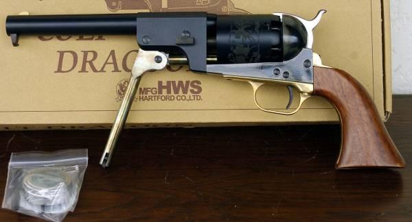 HWS COLT DRAGON リビルバー彫刻 伸銅品 元箱 U982_画像3