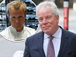 Gordon Ramsay's father-in-law, Chris Hutcheson, is pictured arriving at court today