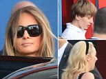 In a family outing, Melania took the two youngest Trump children on a bowling date in New York City on Monday