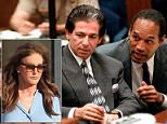 Bombshell:Robert Kardashian told Caitlyn Jenner in secret after the OJ Simpson murder trial that he believed his friend was guilty (Robert and OJ above in May 1995 during the football player's criminal trial)
