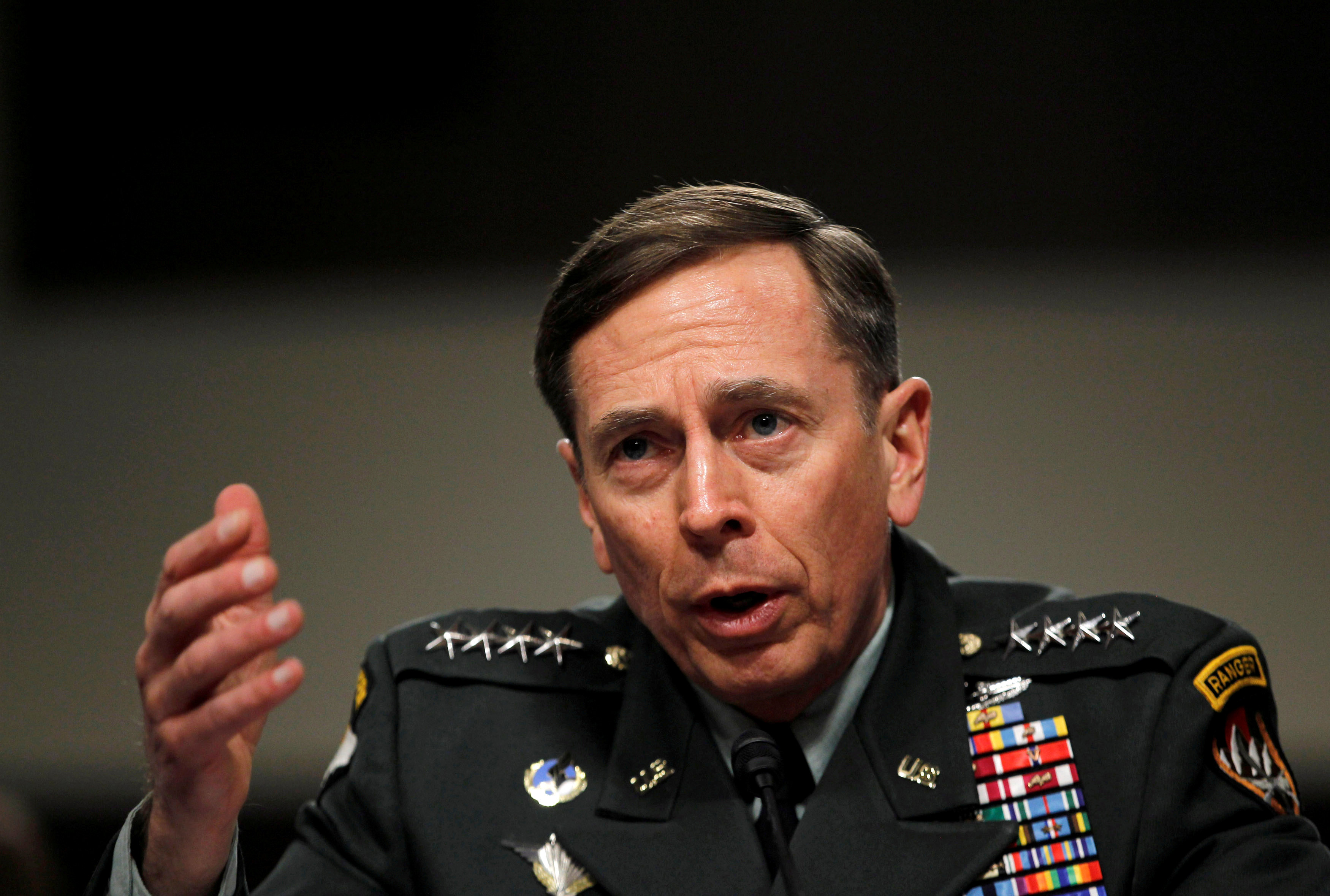 This file photo shows U.S. General David Petraeus when he was commander of the international security assistance force and commander of U.S. Forces in Afghanistan, testifying at a Senate Armed Services committee hearing on the situation in Afghanistan in 2011. Photo: Reuters