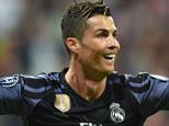 Cristiano Ronaldo celebrates after scoring the equaliser just minutes after the restart at the Allianz Arena