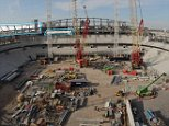Tottenham Hotspur's new stadium continues apace with building work starting on the top tier