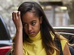 Malia Obama headed into the Weinstein Co. offices on Thursday, dressed in a bright yellow tank top