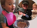 Kelly Clarkson, 34, gives her daughter River Rose, two, a taste of Nutella for the first time