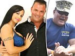 Navy SEAL Joseph John Schmidt III (center) has been moonlight as a porn star, mostly in films starring his wife of 15 years, Jewels Jade (left)
