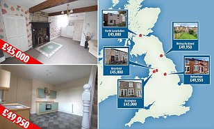 The places where you can still buy a UK home for under £50k