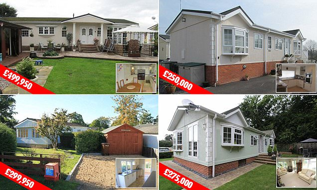 Property prices of mobile homes reach £500k
