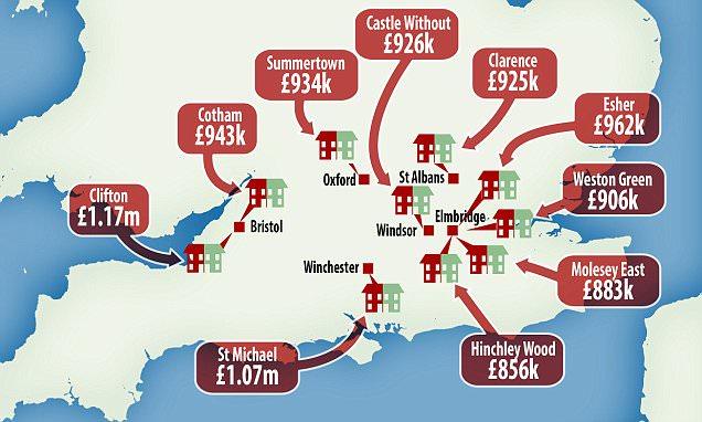 Savills shows where semi-detached homes cost £1m