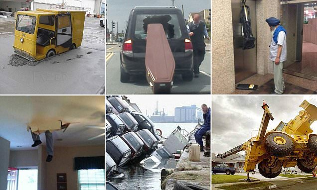 Hilarious images capture employees having a bad day