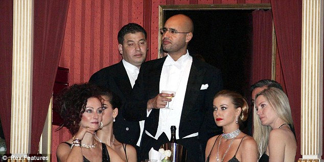 Playboy: Saif, pictured at an opera ball, could spill some explosive secrets