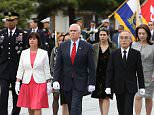 Vice President Mike Pence arrived in South Korea shortly after a failed North Korean missile launch that may have been thwarted by cyber attacks from the U.S. Pence is pictured with his wife Karen (left) visiting Seoul National Cemetery on Sunday