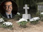 George Michael's grave (pictured) can be seen for the first time after staff at Highgate Cemetery removed the screens around the plot