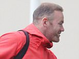 Wayne Rooney arrives at the Lowry Hotel having returned to the Manchester United squad