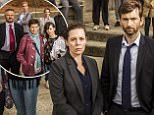 ITV..BROADCHURCH ..SERIES 3..Pictured L-R:..CHARLIE HIGSON as Ian,CAROLYN PICKLES as Maggie,JULIE HESMONHALGH as Trish,SARAH PARISH as Cath,HANNAH MILLWARD as Leah, MARK BAZELEY as Jim,JIM HOWICK as Aaron,OLIVIA COLMAN as DS Ellie Miller,SEBASTIAN ARMESTO as Clive,DEON WILLIAMS as Michael,DAVID TENNANT as DI Alec Hardy,BECKY BRUNNING as Lindsay,GEORGINA CAMPBELL as DC Katie Harford,ANDREW BUCHAN as Mark,ADAM WILSON as Tom,CHARLOTTE BEAUMONT as Chloe,HANNAH RAE as Daisy, JODIE WHITTAKER as Beth,CHRIS MASON as Leo and LENNYHENRY as Ed...This photograph is (C) ITV Plc and can only be reproduced for editorial purposes directly in connection with the programme or event mentioned above. Once made available by ITV plc Picture Desk, this photograph can be reproduced once only up until the transmission [TX] date and no reproduction fee will be charged. Any subsequent usage may incur a fee. This photograph must not be manipulated [excluding basic cropping] in a manner which alters the visual app