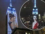 Projections are seen on the Empire State Building, celebrating Harper's Bazaar magazine's 150th anniversary on Apri