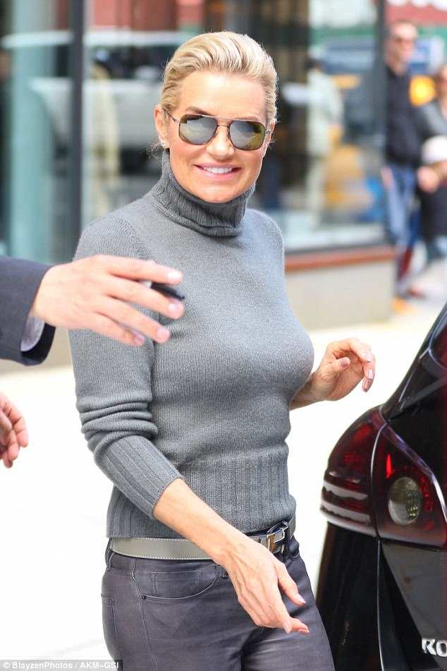 Happy Hadid: The former model smiled as she made her way to a waiting car