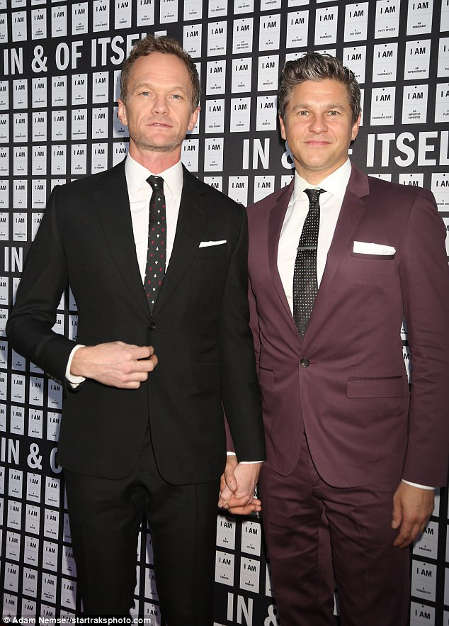 Power couple: Burtka and husbandNeil Patrick Harris, 43, were snapped last week attending the musical In And Of Itself at NYC's Daryl Roth Theatre
