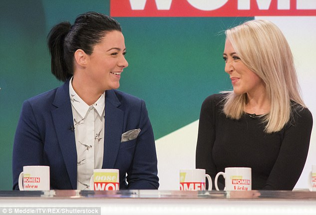 Love at first sight: Speaking to OK! magazine at the time, she said: '[Georgina] didn't have a clue and she turned around and I was on one knee – it was amazing, I think I knew that she'd say yes but it was still scary'
