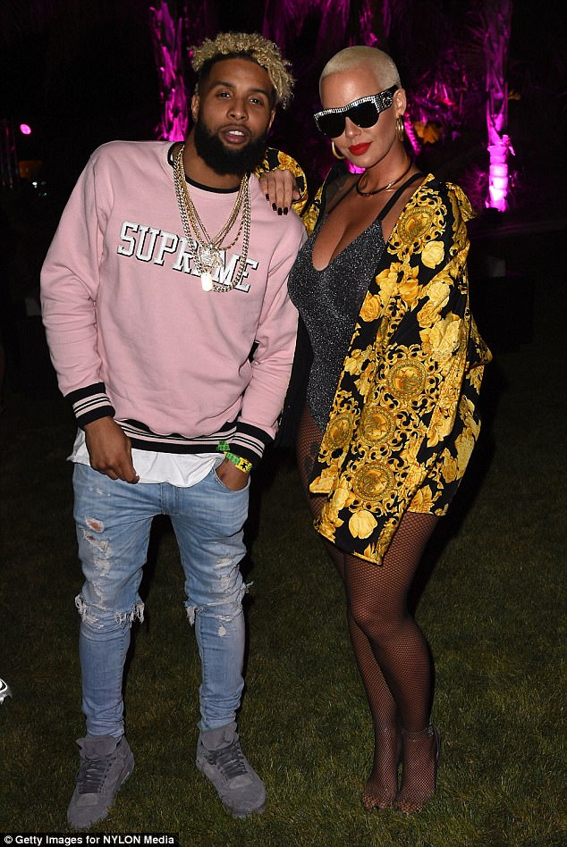 New couple?She also got tongues wagging by hanging out with rumored flame Odell Beckham Jr.