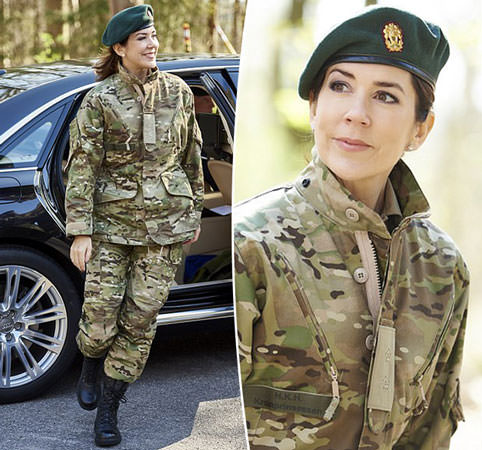 Princess Mary goes incognito in camouflage with the Home Guard
