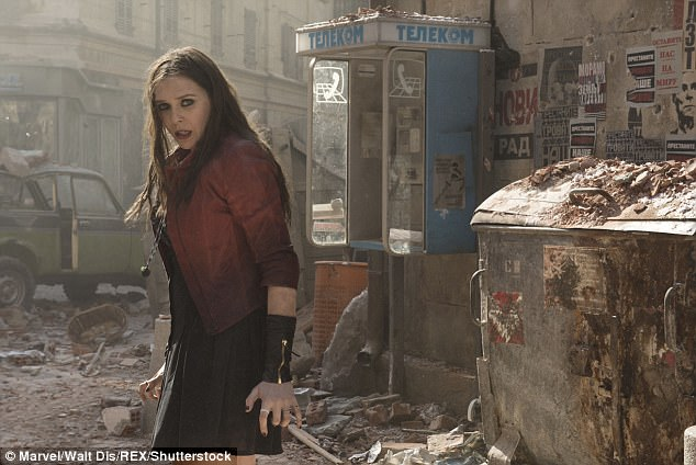Reprisal of a role: Elizabeth as pictured in the last Avengers film: Age Of Ultron which was released in 2015