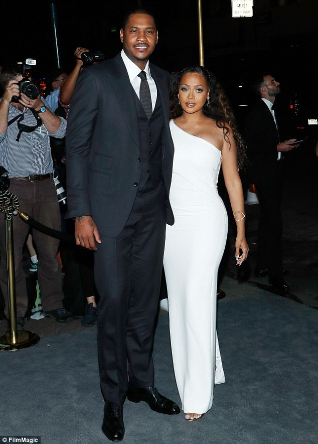Agreement: La La Anthony has reportedly been granted temporary primary custody of her son with husband Carmelo Anthony, days after it was revealed that they'd split