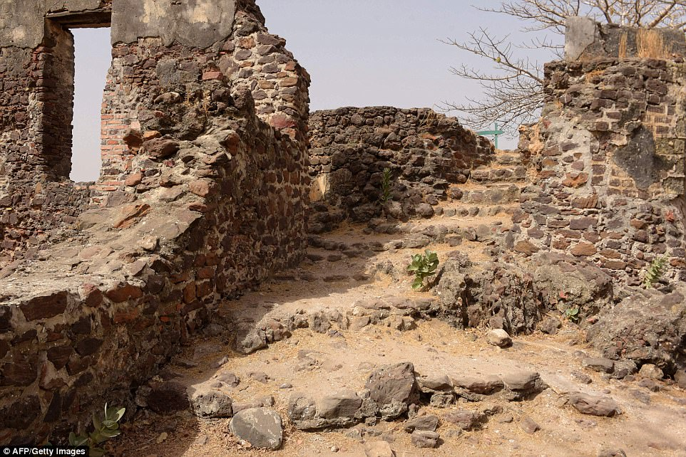 The parched-looking trees and brick ruins that occupy the island once housed dozens of captured west Africans awaiting passage to the Americas