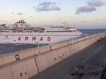 Five people have been taken to hospital after a ferry crashed off Gran Canaria. The car ferry smashed into a port wall in Las Palmas after an engine failure while five more were treated on scene