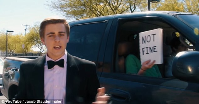 """In his short film, Jacob dances around cars in a tux and croons. """"People say I look like Ryan Gosling, and maybe that's a bit far-fetched,"""" he sings"""