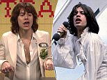 Pictured is Harry doing his Jagger impression on US TV last week