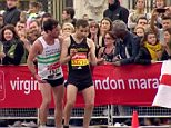 Out of sorts: Chorlton runnerDavid Wyeth looked shattered and dazed as he was helped over