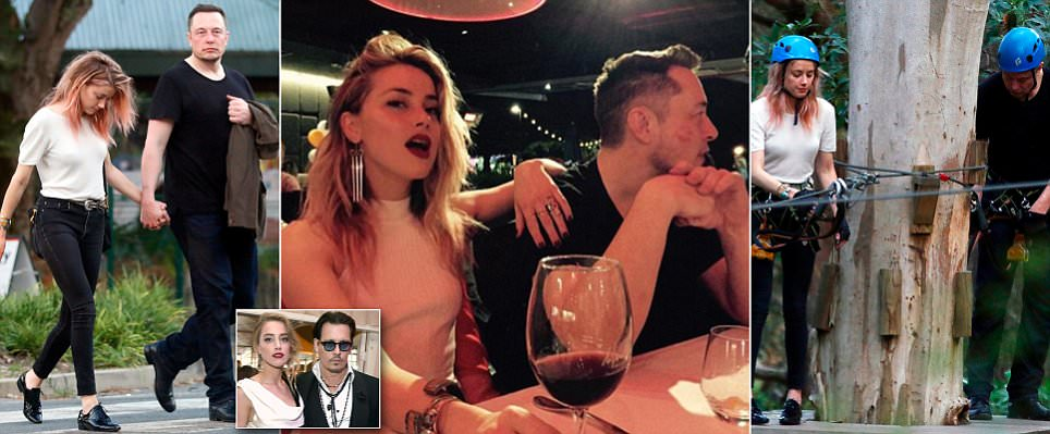 Amber Heard CONFIRMS relationship with billionaire Musk