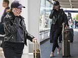 Seen for the first time since the news she is pregnant by a man arrested over an acid attack murder, Ferne McCann stepped off a plane and back onto home soil today