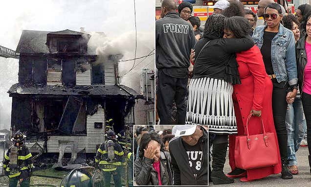 Five are dead including children in a Queens house fire