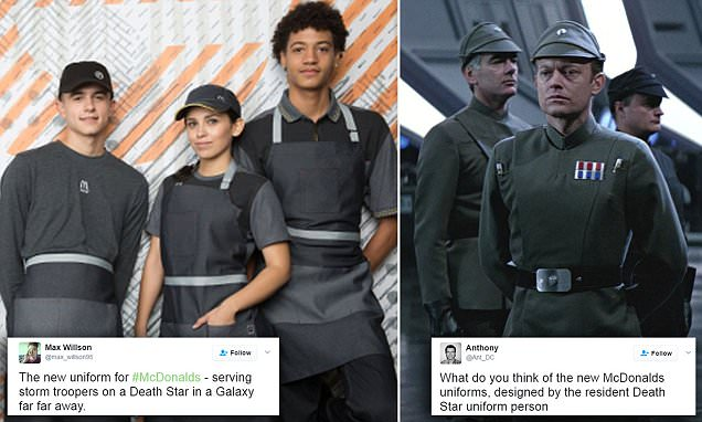 McDonald's is trolled for their new dark uniforms
