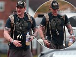Tom Hardy (pictured leaving the gym today) was reportedly seen chasing after a thief who stole and crashed a moped in Richmond, south west London