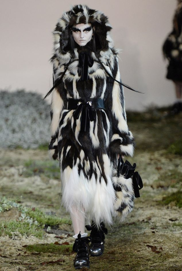 Back in fashion: Designer Alexander McQueen used fur in his show, as did DKNY, Roksanda Illincic and Tom Ford