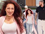 Danielle Bregoli arrives at South County Courthouse in Delray Beach, Florida, on Wednesday with her bodyguard Frank and mother Barbara Ann to face five felony charges