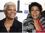 """FILE - In this combination photo, singer Dionne Warwick arrives at the 56th annual GRAMMY Awards on Jan. 26, 2014, in Los Angeles, left, and Aretha Franklin attends the 39th Annual Kennedy Center Honors on Dec. 4, 2016, in Washington, D.C. Franklin is accusing Warwick of making up a story that she was Whitney Houston's godmother.  At Houston's funeral, Warwick told funeral-goers that Franklin was present and introduced her, but then realized she wasn't in attendance.  Warwick said, """"""""She loves Whitney as if she were born to her. She is her godmother."""" Franklin said she was suffering from swollen feet and had to skip the funeral. She felt the comment was damaging to her and planned to address it at a later date. (Photo by Jordan Strauss, left, Owen Sweeney/Invision/AP, File)"""